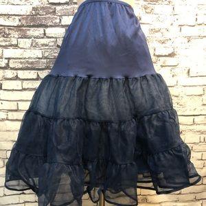 Dresses & Skirts - Navy Blue Slip Ruffled Pinup Retro Petticoat